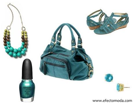 accesorios azul turquesa