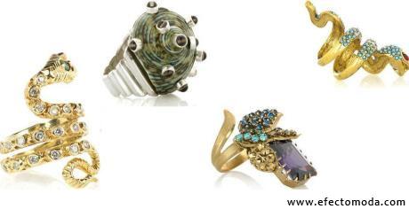 anillos extravagantes