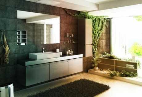 Estilo natural en baños