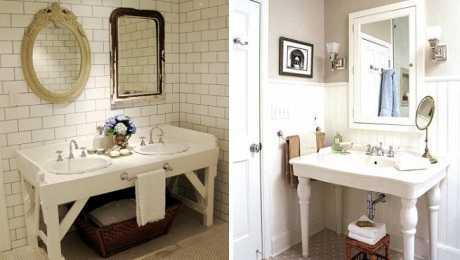 Decoración de baños retro modernos