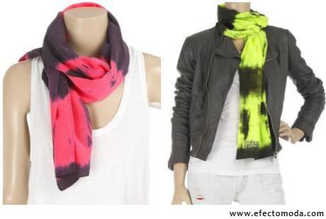 bufandas coloridas