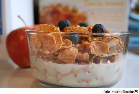 cereales en el desayuno