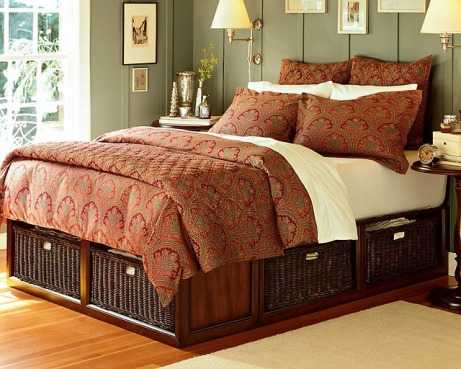 Decorar el dormitorio con muebles de mimbre