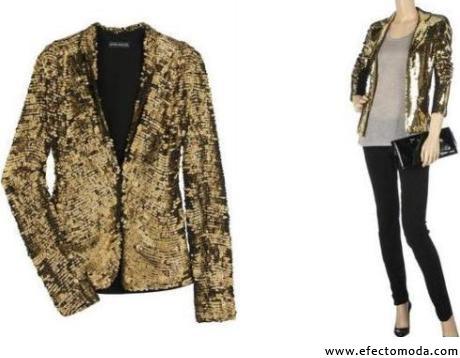 chaqueta dorada