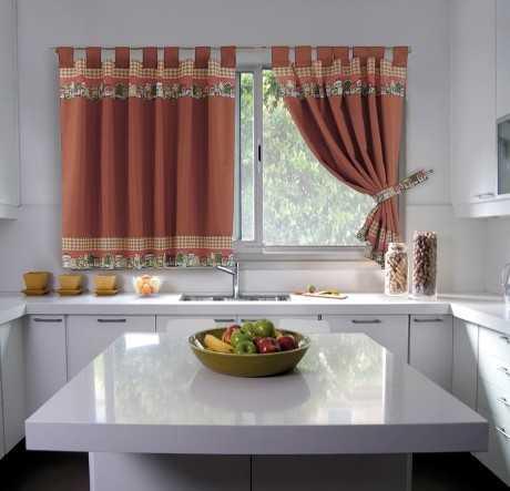 Cómo elegeir las cortinas para la cocina