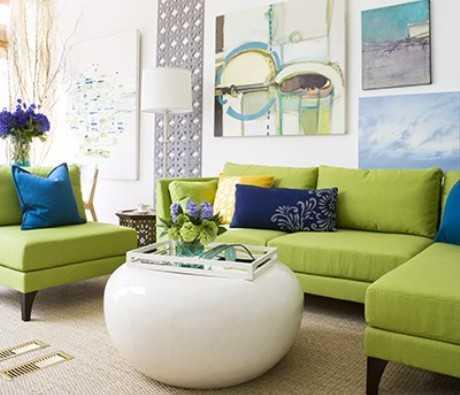 Cómo decorar en verde y azul