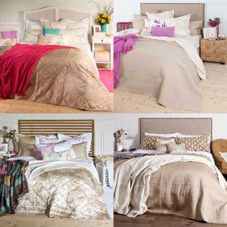 Decorar la cama con edredones