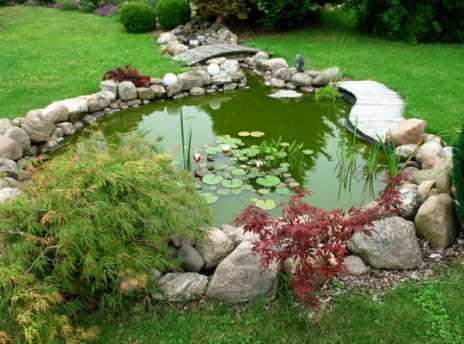 Decorar el jardín con estanques