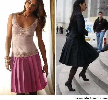 faldas tableadas