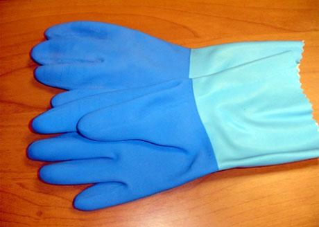 guantes de caucho
