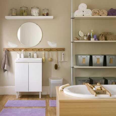 Cómo almacenar en baños