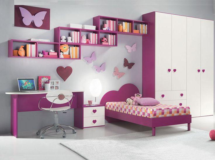 Dormitorio fucsia niñas