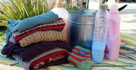 lavar las prendas