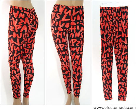 legging con graffiti