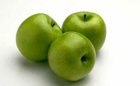 Mascarilla casera a base de manzana