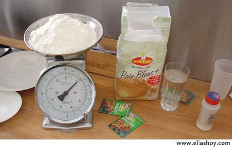 midiendo ingredientes