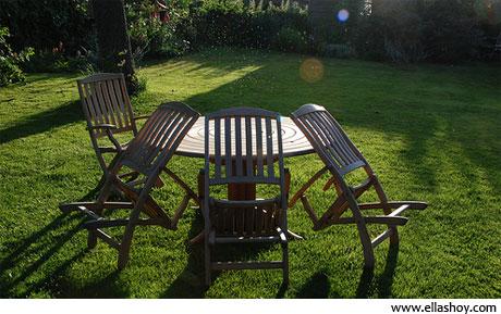 muebles en jardín