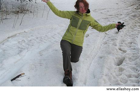 mujer nieve