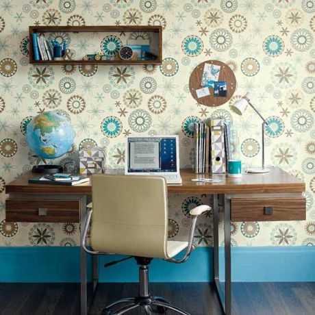Decorar la oficina con papel tapiz