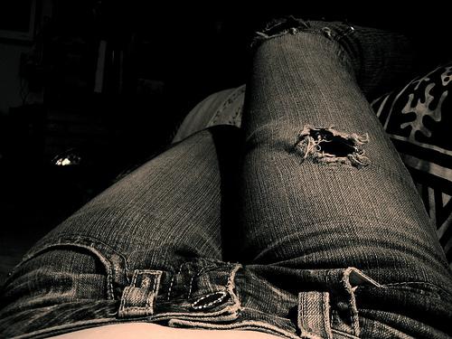 pantalones vaqueros rotos