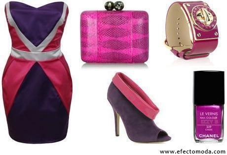 prendas purpura y rosa