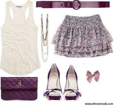 prendas color púrpura