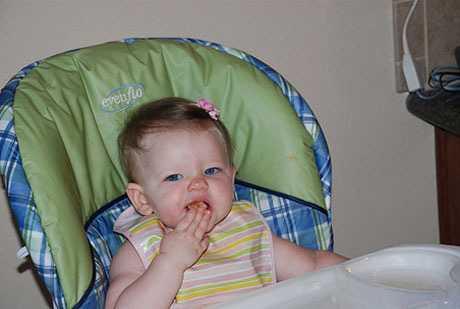 Silla para el bebé comer