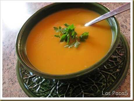Sopa rica en betacarotenos