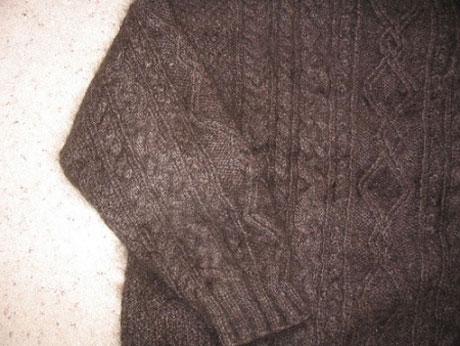 suéter de lana