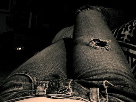 tinta en los jeans