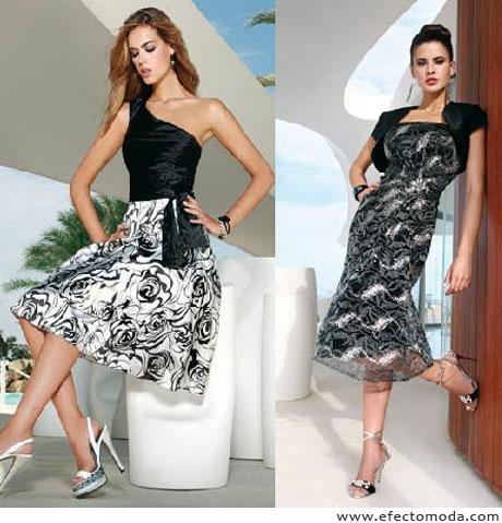vestidos blanco negro