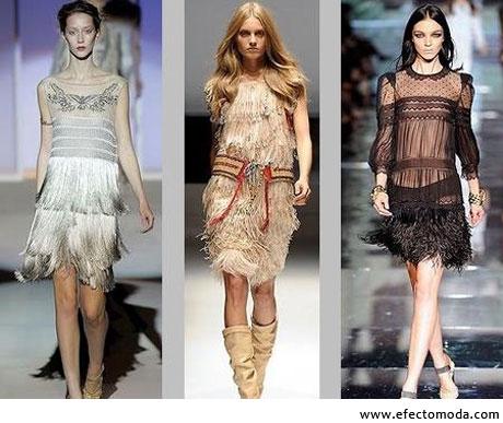 vestidos flecos