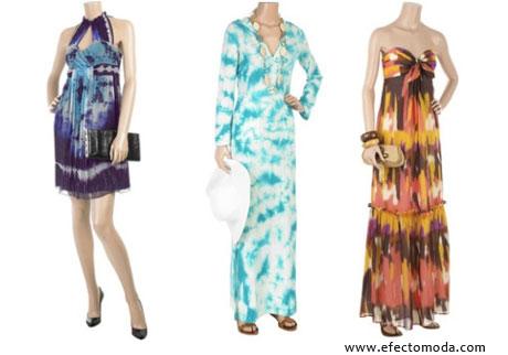 vestidos teñidos