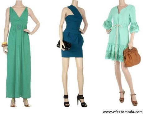 vestidos verde